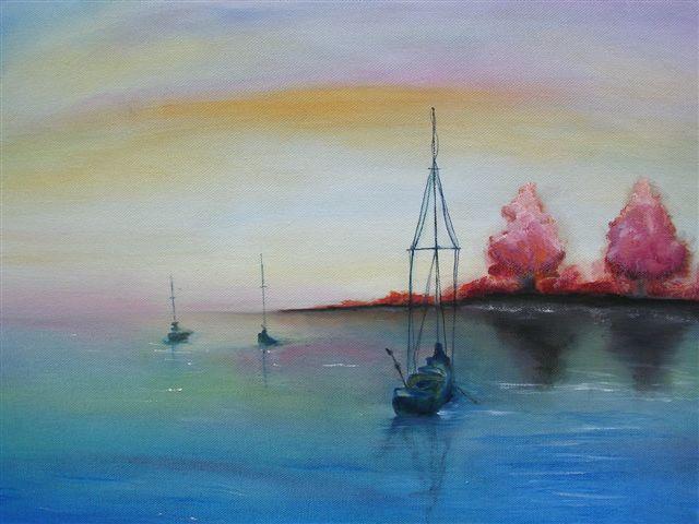 """Far, Far Away  18"""" x 24"""" - Oil on canvas"""