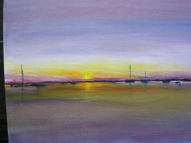 "Purple sunset.16"" x 12"" - [Sold]"