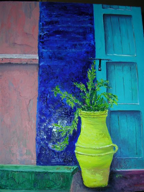 Moroccan View. -       (Sold)