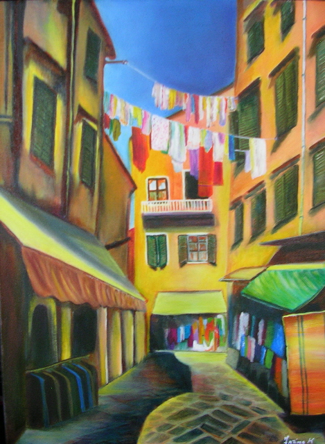 """Once upon a Market  18"""" x 24"""" - (Sold)"""