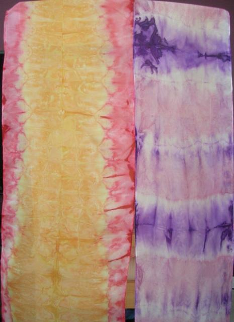 Tie Dyed Silk Scarves