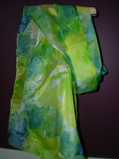 Tie Dye on Silk