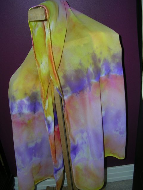 Tie Dye on Georgette